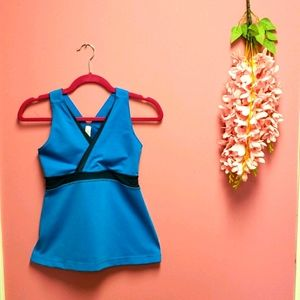 Lululemon Royal Blue Tank Top with Buit in Bra
